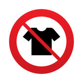 T-shirt sign icon. Clothes symbol. — Stock vektor