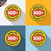 100% quality guarantee icon. Premium quality. — Stock Vector