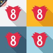 8 märz frauen tag zeichen symbol. blumen-symbol. — Stockvektor