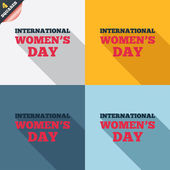 8 March International Women's Day sign icon. — Stockvektor