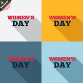 Women's Day sign icon. Holiday symbol. — Stock vektor