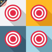 Hedef hedef işareti simgesi. dart tahtası sembolü. — Stok Vektör