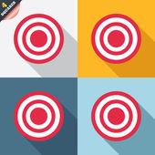 Target aim sign icon. Darts board symbol. — Stock Vector