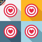 Ziel-ziel-schild-symbol. dart-board-symbol. — Stockvektor