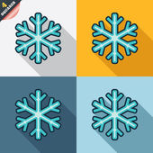 Snowflake sign icon. Air conditioning symbol. — Stok Vektör