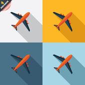 Segno di aeroplano. simbolo di aereo. icona di viaggio. — Vettoriale Stock