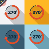 Angle 270 degrees sign icon. Geometry math symbol — 图库矢量图片