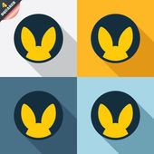 No animals testing sign icon. Not tested symbol — Stockvektor