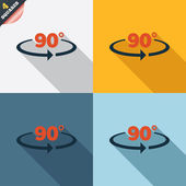 Angle 90 degrees sign icon. Geometry math symbol — Vettoriale Stock