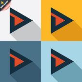 Arrow sign icon. Next button. Navigation symbol — Stockvektor