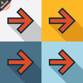 Arrow sign icon. Next button. Navigation symbol — Stockvektor