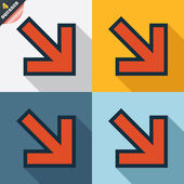 Arrow sign icon. Next button. Navigation symbol — Stok Vektör