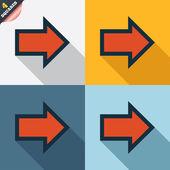 Arrow sign icon. Next button. Navigation symbol — Vettoriale Stock