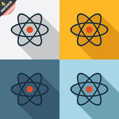 Atom sign icon. Atom part symbol. — 图库矢量图片