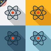 Atom sign icon. Atom part symbol. — Vector de stock