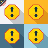 Attention sign icon. Exclamation mark. — Vettoriale Stock