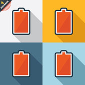Battery fully charged sign icon. Electricity. — 图库矢量图片