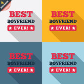 Best boyfriend ever sign icon. Award symbol. — Stockvektor