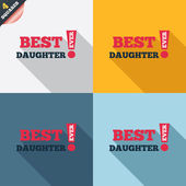 Best daughter ever sign icon. Award symbol. — Stok Vektör
