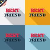 Best friend sign icon. Award symbol. — Vettoriale Stock