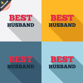 Best husband sign icon. Award symbol. — 图库矢量图片
