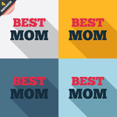 Best mom sign icon. Award symbol. — Stock Vector