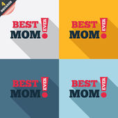 Best mom ever sign icon. Award symbol. — Stok Vektör