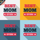 Best mom ever sign icon. Award symbol. — Stock Vector