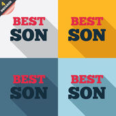 Best son sign icon. Award symbol. — Stockvektor