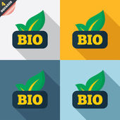 Bio product sign icon. Leaf symbol. — Stock vektor