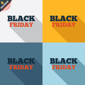 Black friday sign icon. Sale symbol. — Stock Vector
