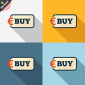 Buy sign icon. Online buying Euro button. — Wektor stockowy