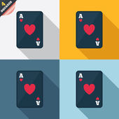 Casino sign icon. Playing card symbol — Wektor stockowy
