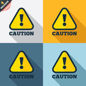 Attention caution sign icon. Exclamation mark. — Stockvektor