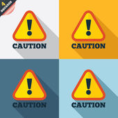 Attention caution sign icon. Exclamation mark. — 图库矢量图片