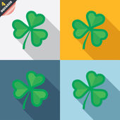 Clover with three leaves sign. St.Patrick symbol — Vettoriale Stock