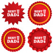 Stock Vector: Best father ever sign icon. Award symbol.