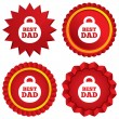Stock Vector: Best dad sign icon. Award weight symbol.