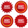 Stock Vector: Best friend sign icon. Award symbol.