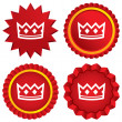 Stock Vector: Crown sign icon. King hat symbol.