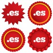 Stock Vector: Domain ES sign icon. Top-level internet domain