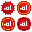 Stock Vector: Domain NL sign icon. Top-level internet domain