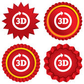 3D sign icon. 3D New technology symbol. — Stock Vector