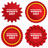 8 March International Women's Day sign icon. — Stock Vector