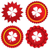 Klöver med fyra blad tecken. st. patrick symbol — Stockvektor