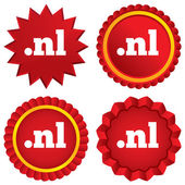 Domain NL sign icon. Top-level internet domain — Stock Vector