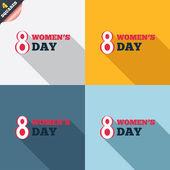 8 марта женщин в день знак значок. символ праздника. — Стоковое фото