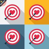 Icono de signo de objetivo objetivo. símbolo del tablero de dardos. — Foto de Stock