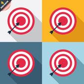 Icône de signe objectif cible. fléchettes conseil symbole. — Photo