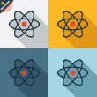 Atom sign icon. Atom part symbol. — Stock Photo